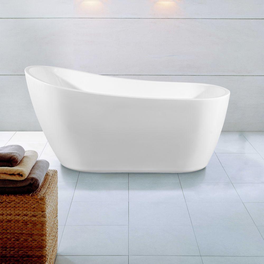 Freistehende Badewanne Standbadewanne Wanne Armatur Standarmatur 170 X 70 H606