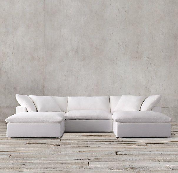 Living Room Sofa S Rh Cloud Cube Modular Restoration