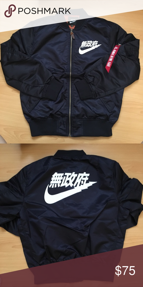 stable quality top design buying new Air Tokyo Nike bomber jacket navy blue large japan Brand new. Size ...