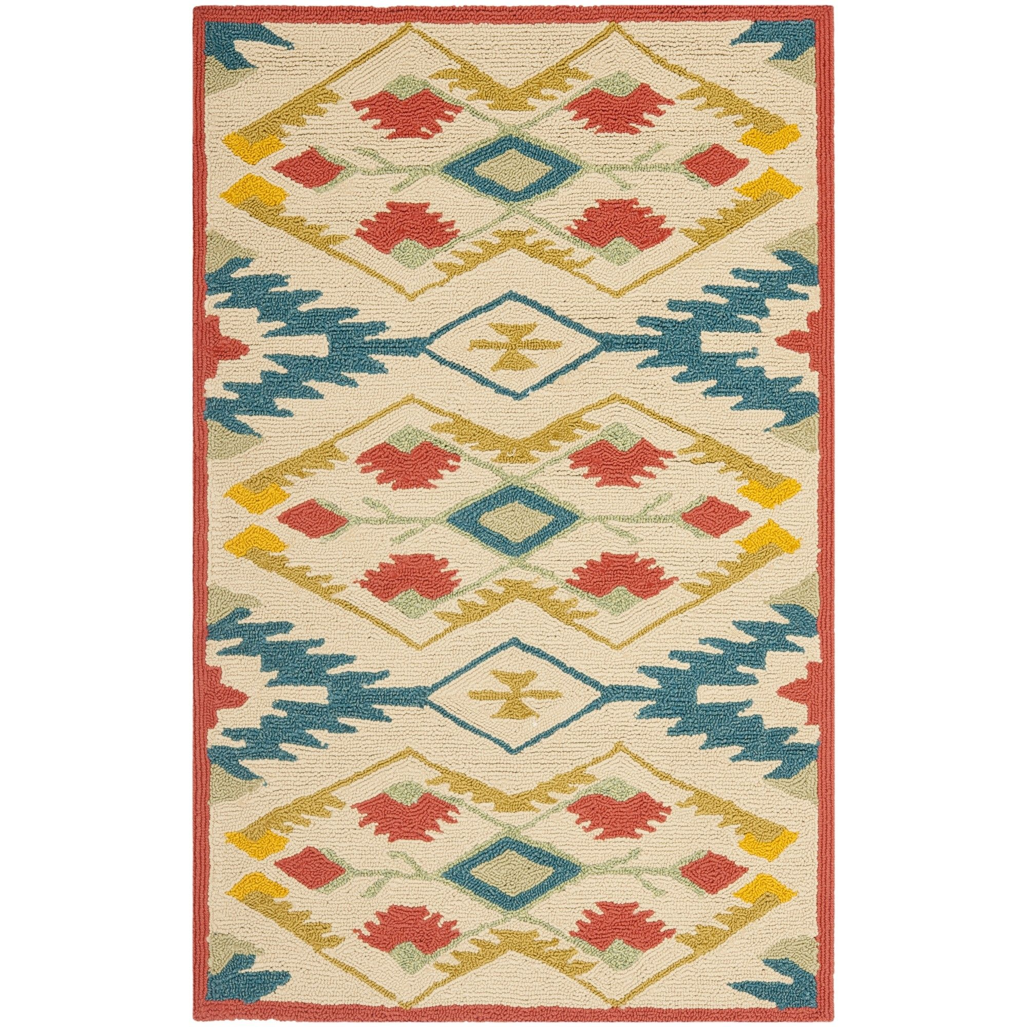 Puri Yellow And Blue Outdoor Indoor Area Rug Products Pinterest