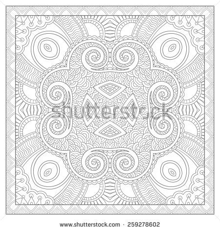 Karakotsyas Portfolio On Shutterstock Unique Coloring Book Square Page For Adults