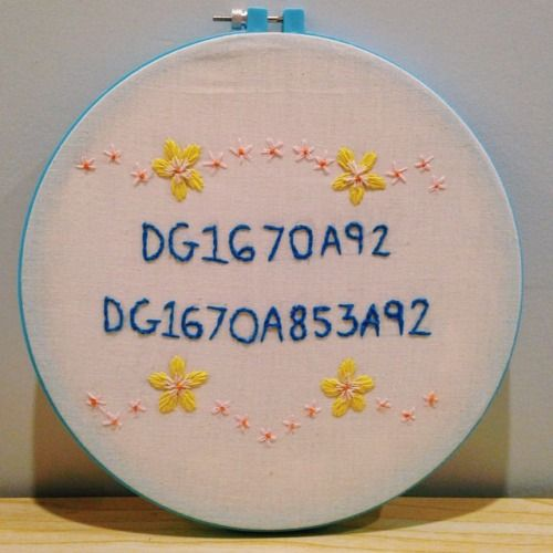 sandyhonig: Spent Saturday night embroidering my wifi password