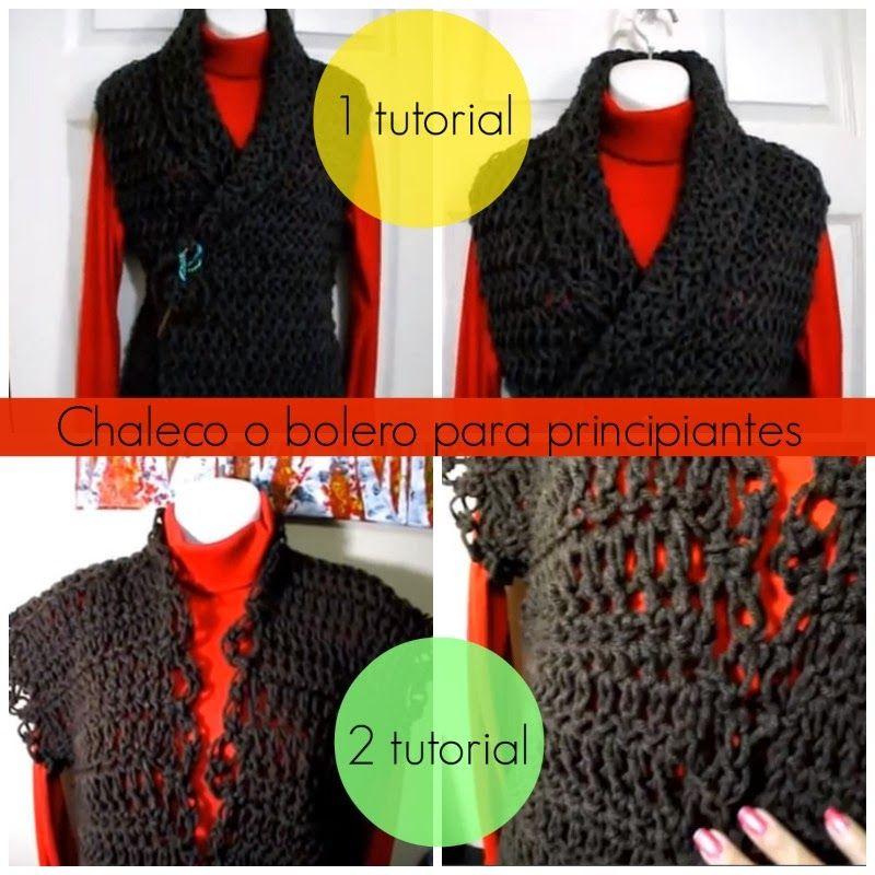 Como hacer 2 Chalecos Crochet Principiantes - Patrones Crochet ...