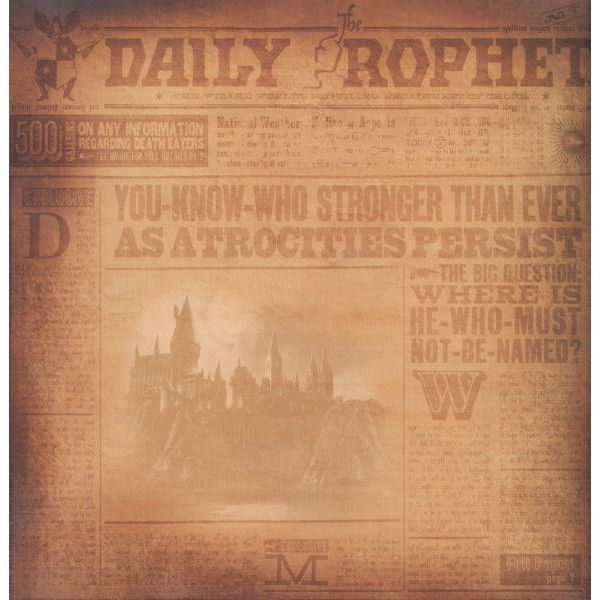Harry Potter Daily Prophet 12 X 12 Double Sided Paper 0287 Kwd