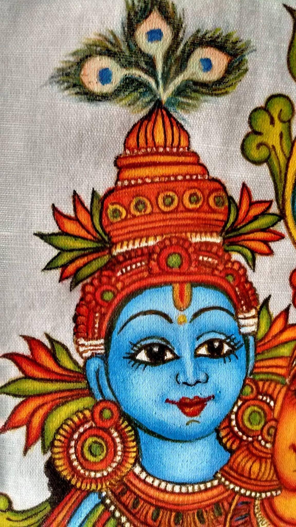 Pin by sumana upadhyaya on fabric painting pinterest for Aithihya mural painting fabrics