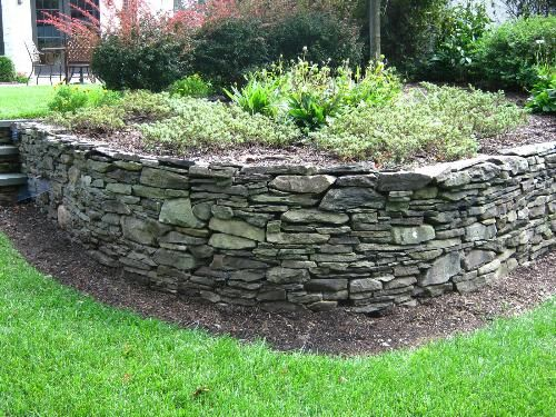 Natural Stone Garden Wall Walls Retaining Wall Installation