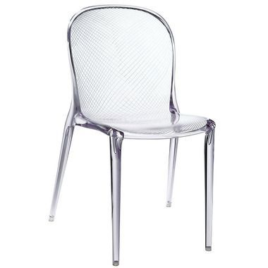 Scape Acrylic Translucent Dining Side Chair Accent Chair In Clear