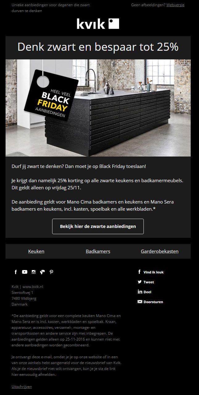 KVIK kitchen - Op Black Friday biedt KVIK met deze e-mail een mooie ...