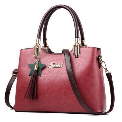 c76bd04638 Scrub Tassel Leather Handbag - Sale! Up to 75% OFF! Shop at Stylizio for  women s and men s designer handbags