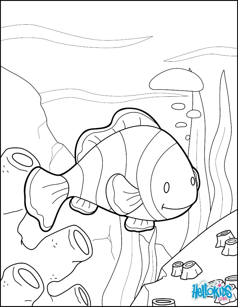 Do You Like To Color Online Enjoy Coloring This Clown Fish Page With Our