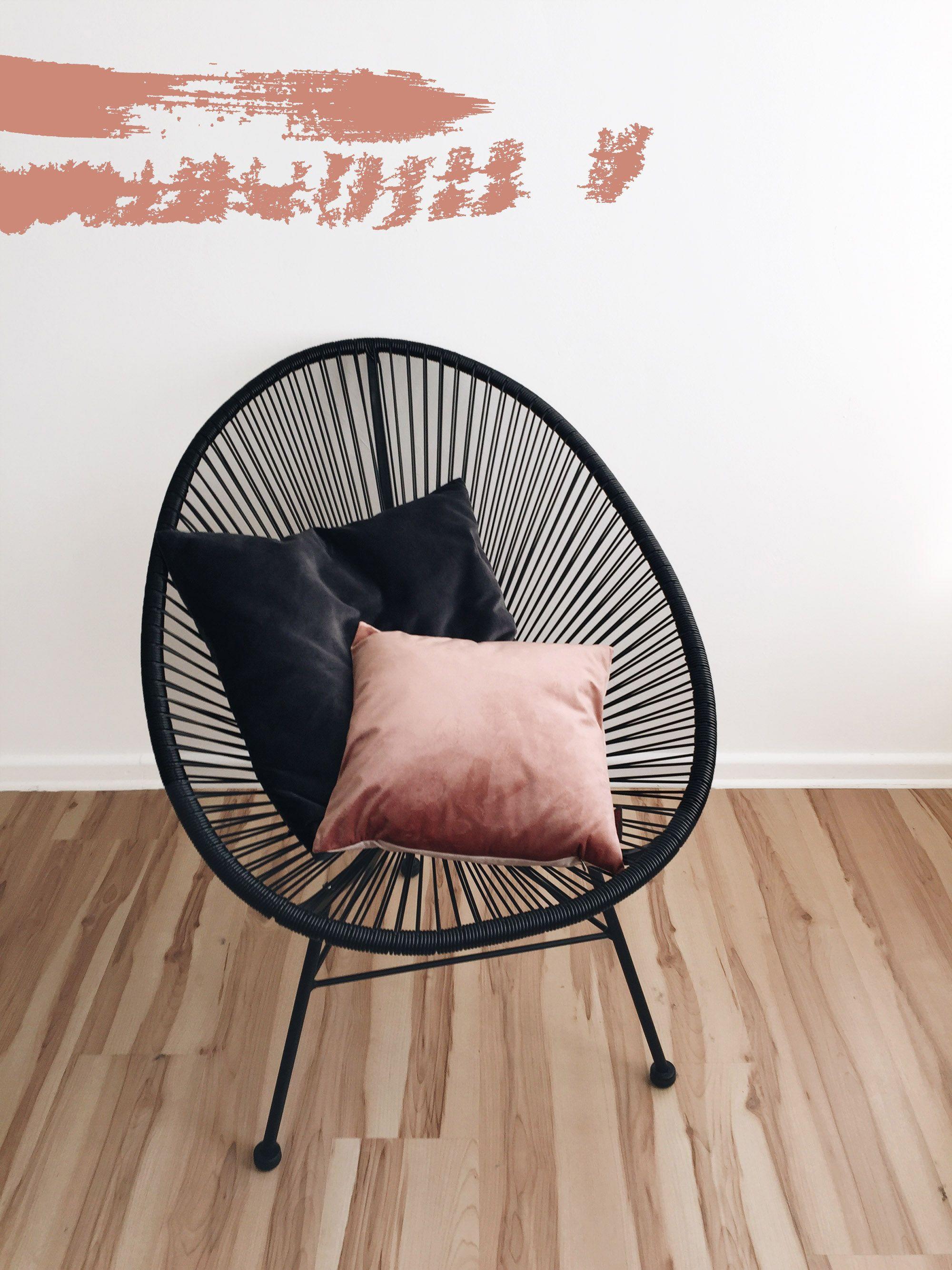 BLUSH VELVET   Acapulco chair, Velvet pillows and Acapulco