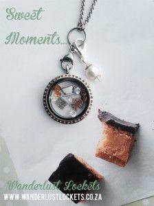 Sweet Moments, Caramel slice inspired locket