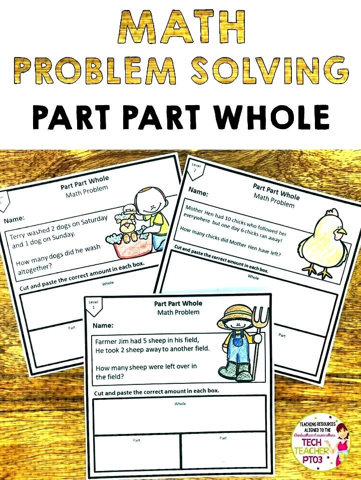 Problem Solving Activities Part Part Whole Perfect for math rotations, these 12 differentiated part