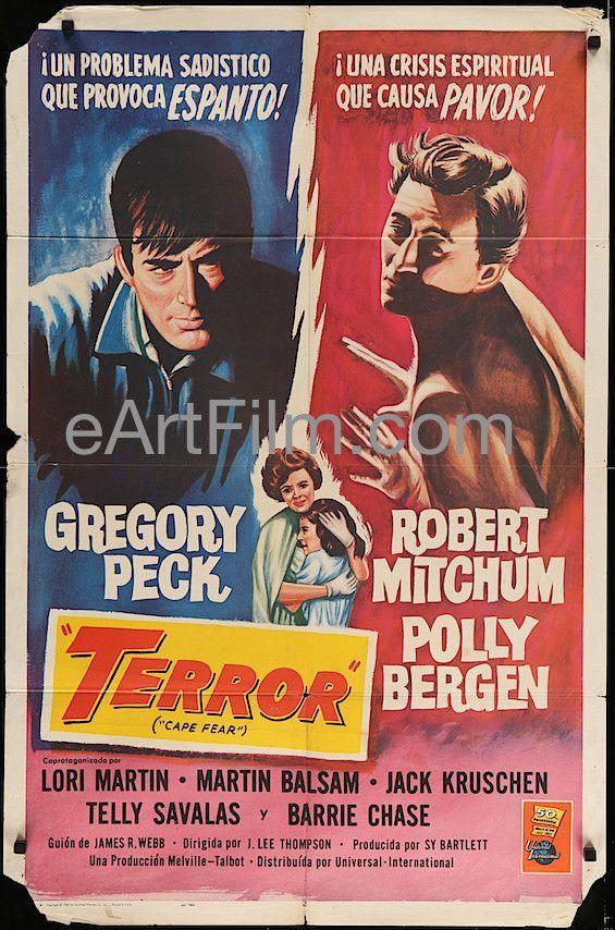 Cape Fear aka Terror-1962-Gregory Peck-Robert Mitchum-Polly Bergen-27x41