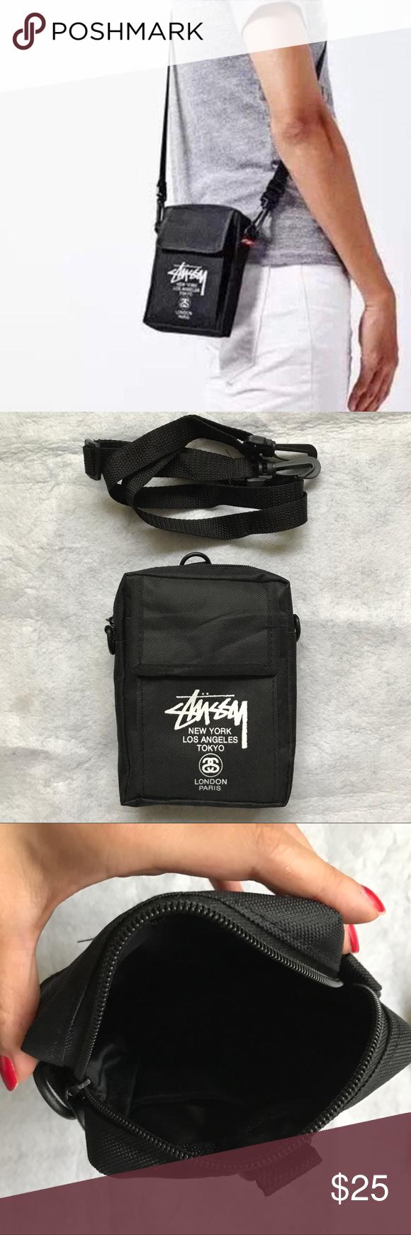Stussy unisex Black Crossbody Pouch bag Authentic Stussy x Japan Smart  magazine collaboration Bag only NEW ed79c0822b51f