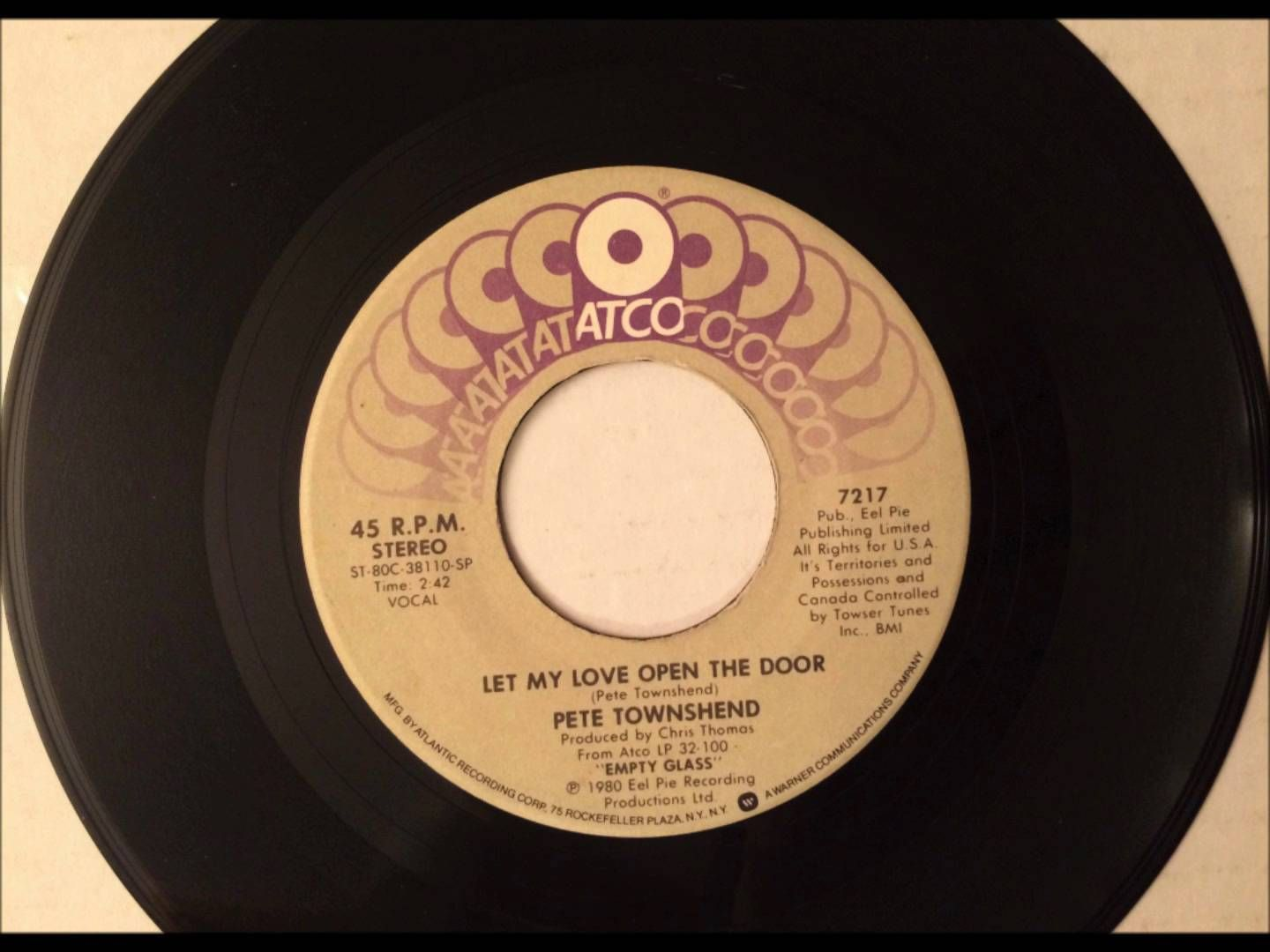 Let My Love Open The Door Pete Townsend 1980 Vinyl 45rpm Let It Be My Love Pete