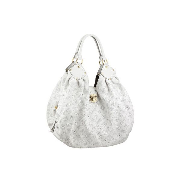 22bd9c9fe26a Louis Vuitton Mahina XL White ❤ liked on Polyvore featuring bags ...