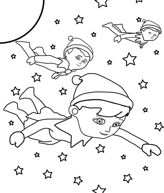 Christmas coloring pages christmas coloring pages for Elf on the shelf coloring pages