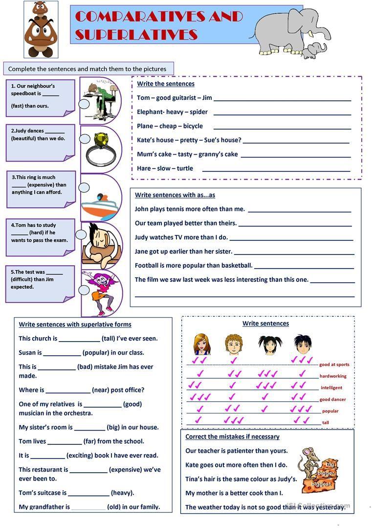 Comparison Degrees Of Comparison Comparison English Resources