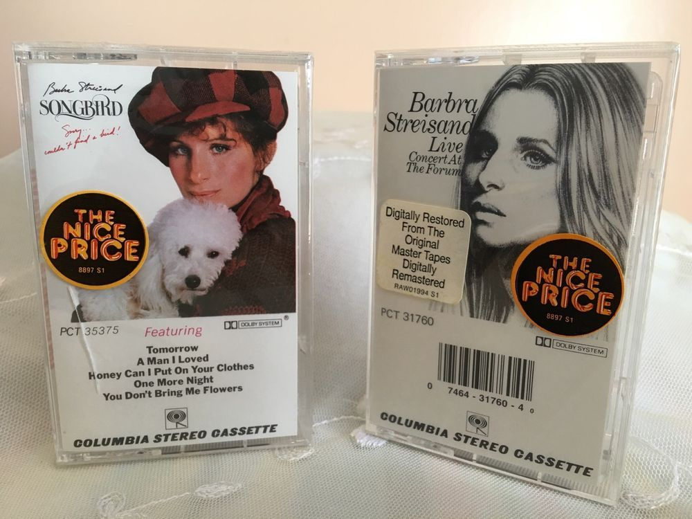 Barbra Streisand Lot OfTwo Tapes Songbird Live Concert at The Forum Cassette New #EasyListeningSingerSongwriterSoftRock1970s