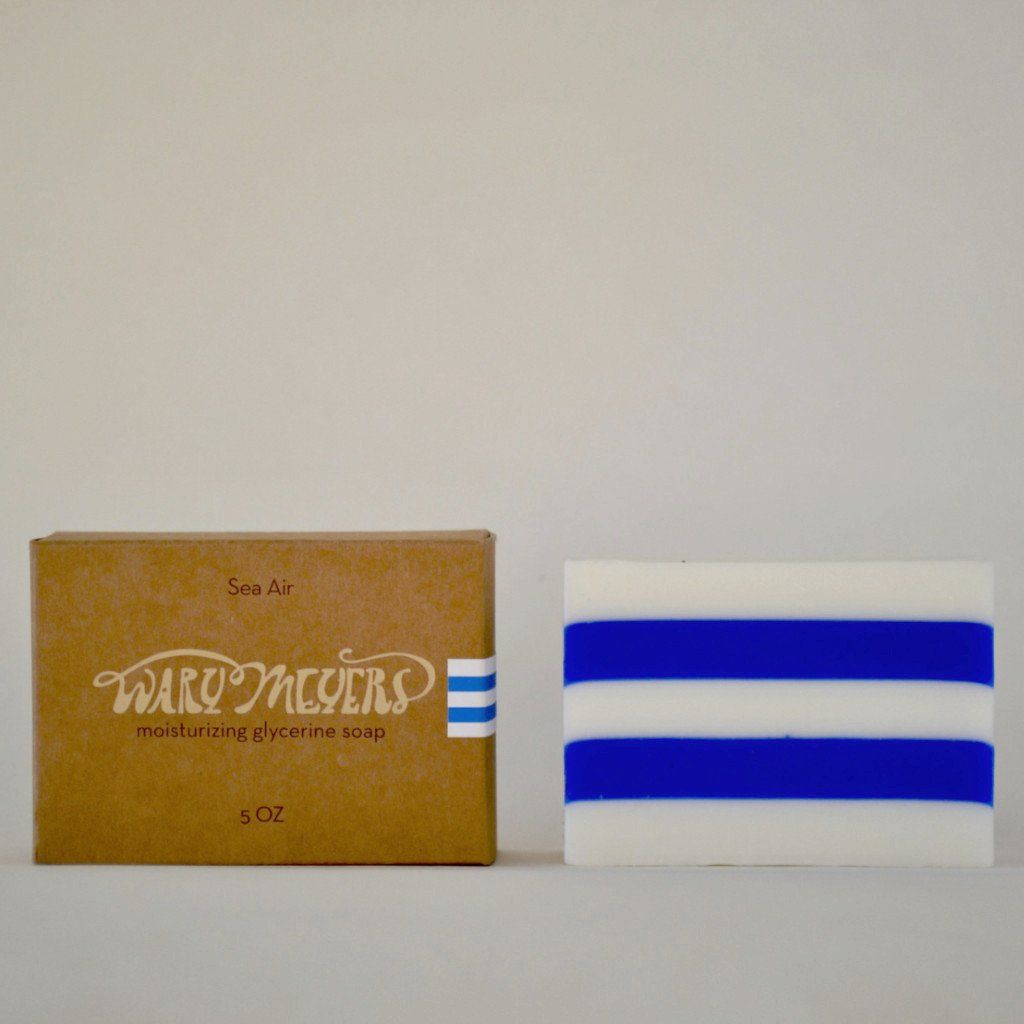 Classic Blue And White Striped Glycerin Soap Enlivened With The Scent Of Swinging Open The Cabin Doors Of Your Yacht At Cap D Antibes Soap Soap Packaging Glycerin Soap