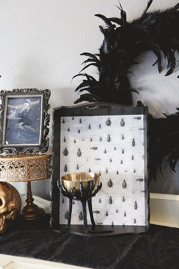 make a creepy bug tray for your halloween mantel Holiday