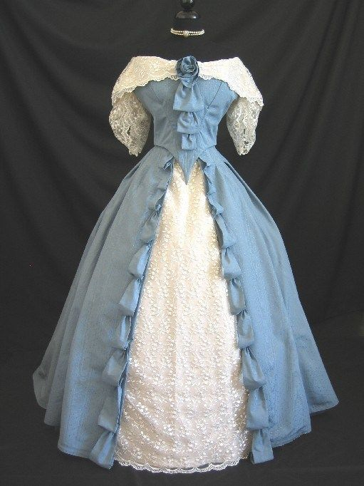 reproduction dress based on an 1845 ball gown