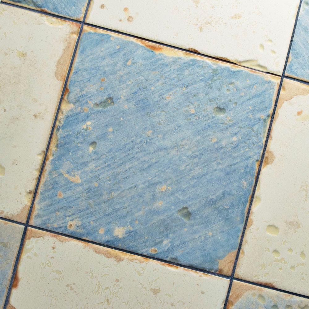 Merola Tile Artisan Damero Azul 13 in. x 13 in. Ceramic Floor and ...