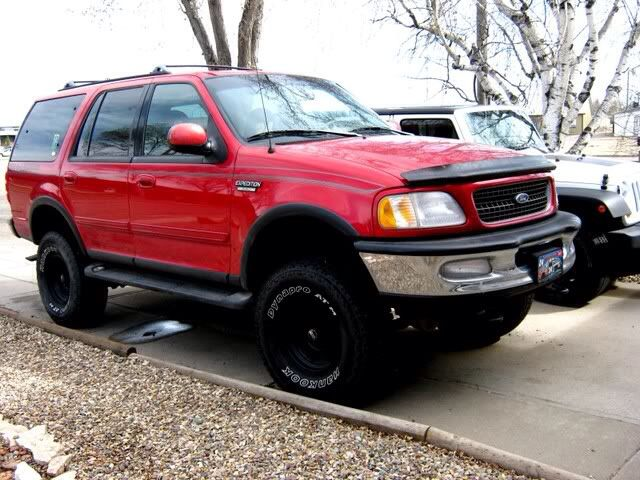 Lifted Red Expedition Ford Expedition El Expedition Vehicle Ford X Ford Trucks