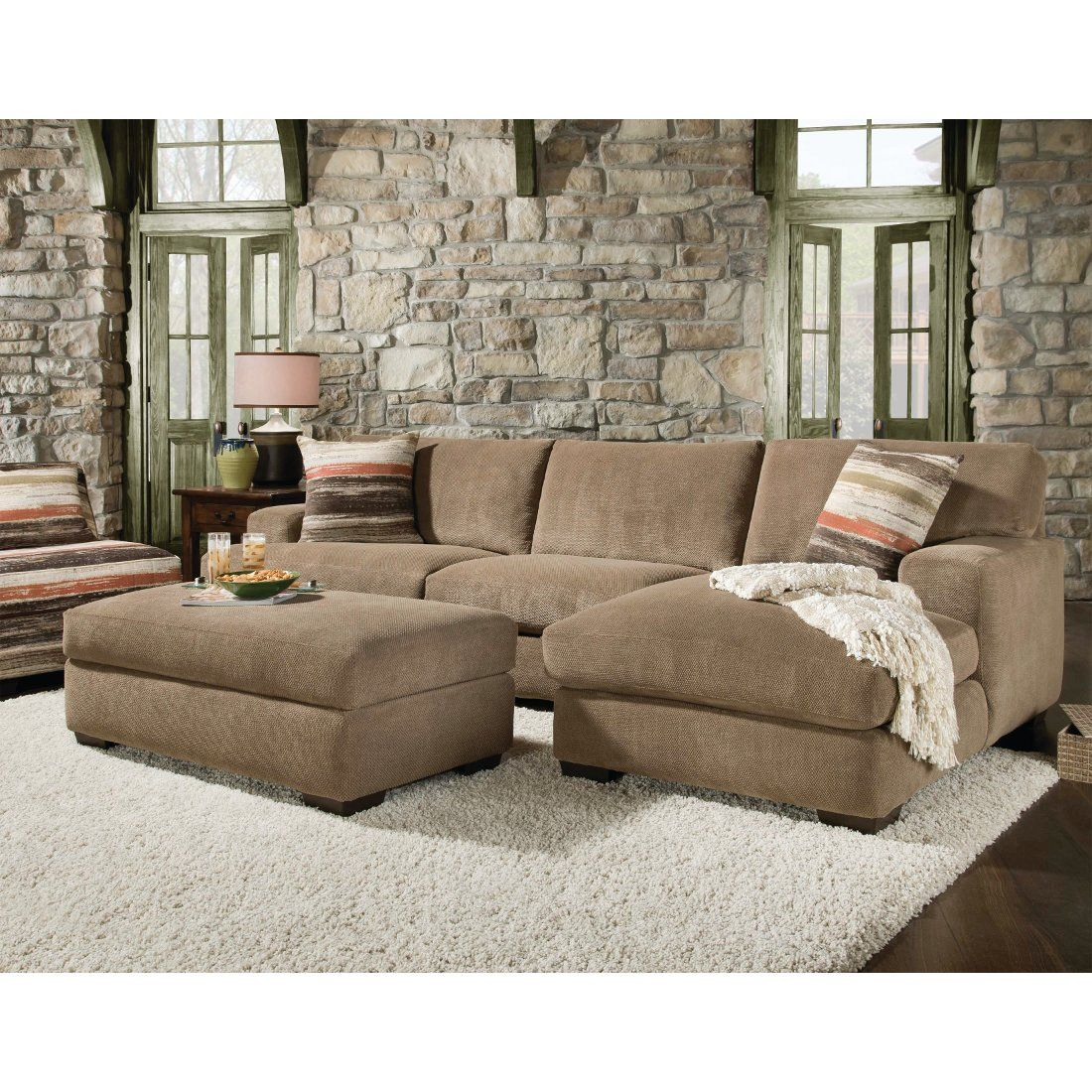 Mead Living Room Laf Sofa Raf Chaise Ottoman Sectional Cocoa 48bmeadcocoamid Sectional Sofa With Chaise Small Sectional Sofa Couch With Chaise