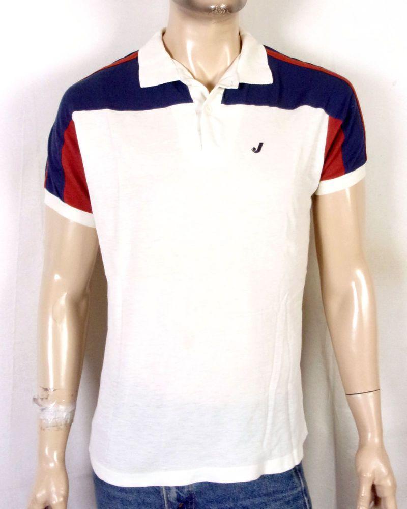 54cdf2d068d0 vtg 70s Jantzen mesh ReTrO Polo Shirt Striped Sleeve Ringer SKATE indie L/XL