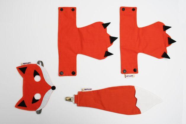 """Costumes & déguisements, Déguisement Renard SuperKit """"masque+queue... est une création orginale de Lili-Pastille sur DaWanda"""