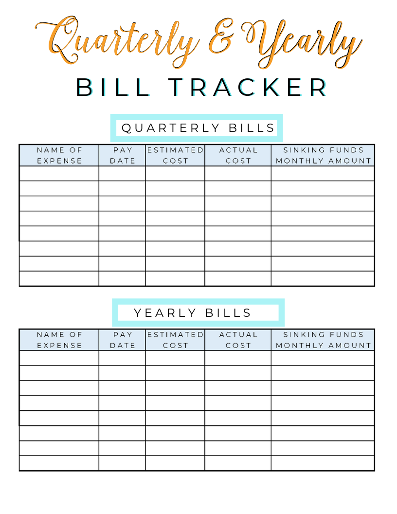 Some Bills Only Come Quarterly Or Yearly And They Can Be Tricky To