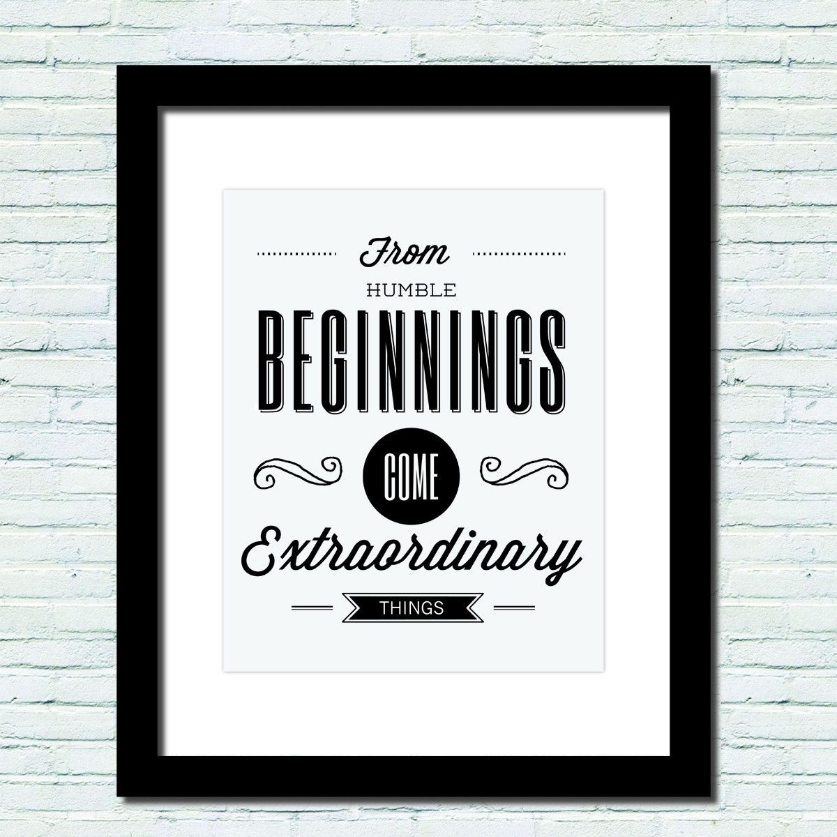 Humble Beginnings Quotes: 'Humble Beginnings' Motivational Poster