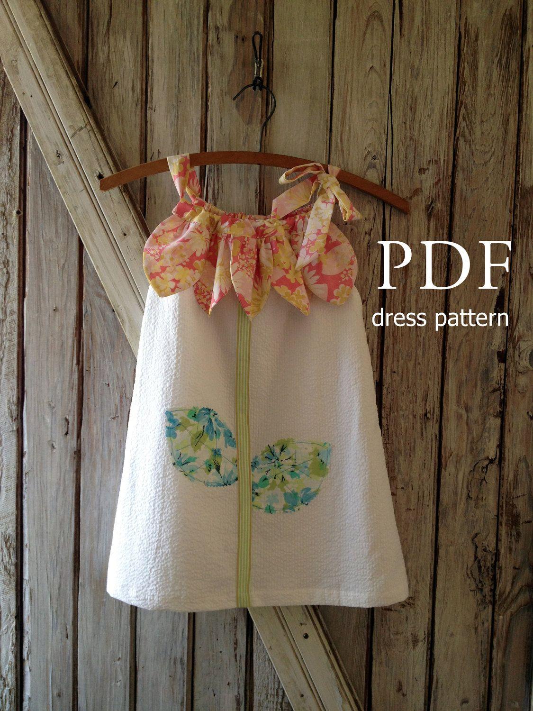 Sunny Flower Pillowcase Dress - Girl Sewing Pattern - PDF Pattern Tutorial Easy Sew Sizes thru 10 included & Sunny Flower - Pillowcase Dress Pattern Tutorial. Girl\u0027s Dress ... pillowsntoast.com