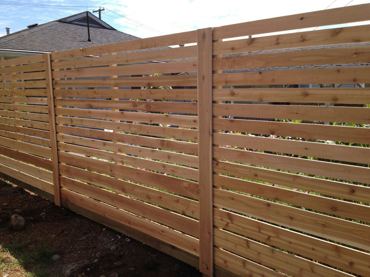 New Horizontal Fence Panel Sold By Home Depot Home Depot New