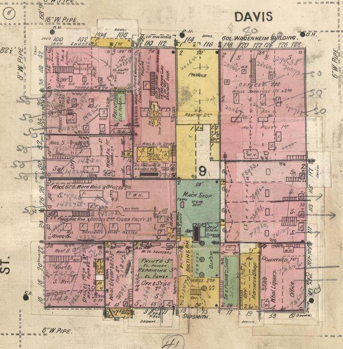 San Francisco Sanborn Fire Insurance Maps 1905 Pre Earthquake Sanborn Earthquake Historical Maps