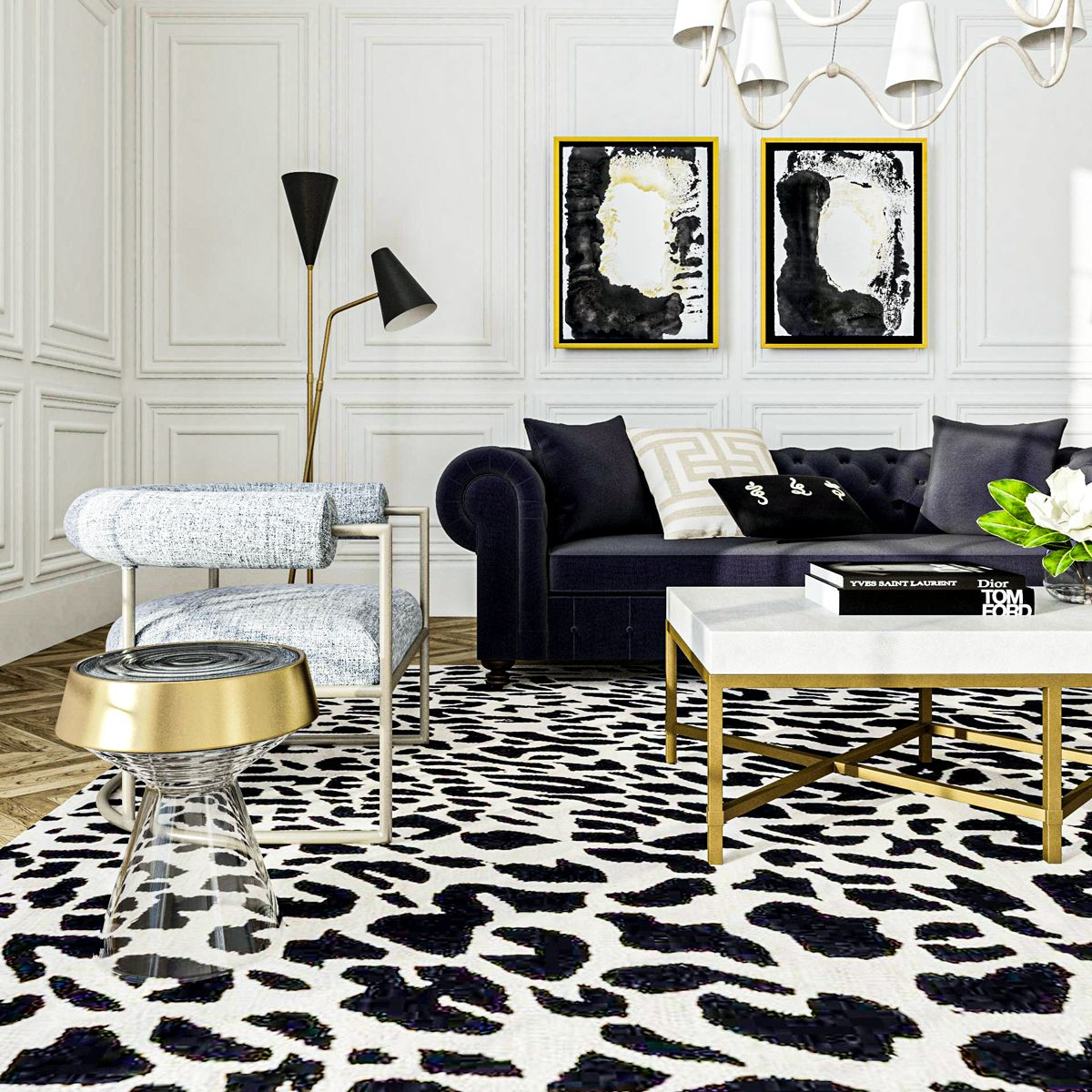 The Difference Between Hollywood Bohemian Glam Modsy Blog Glam Living Room Hollywood Glam Living Room Interior Design