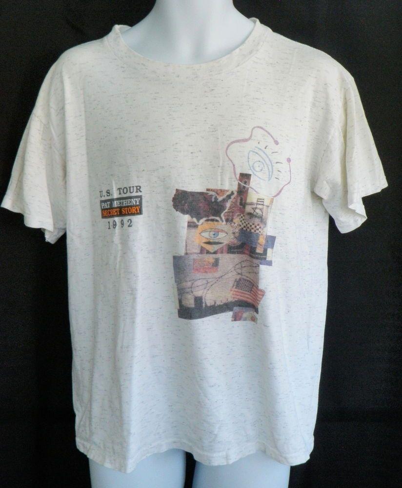 2f05c7030 Vintage Pat Metheny 1992 Concert US Tour T-Shirt Secret Story Size Large  Mens