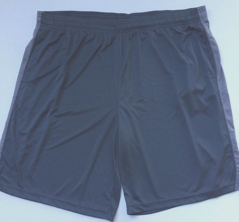 7a8acdfff12d6e Adidas Mens Climalite Athletic Gym Basketball Workout Shorts 2XL XXL Grey  NEW  Adidas  Shorts