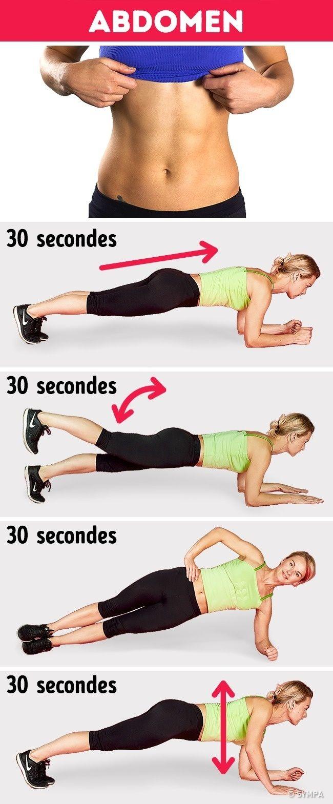 9 Exercices Abdos Pour Avoir Un Ventre Plat Rapidement Comment Faire Des Abdos Exercices De Fitness Exercice