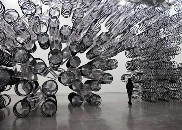 """""""Forever Bicycles"""" Installation by Ai Weiwei"""