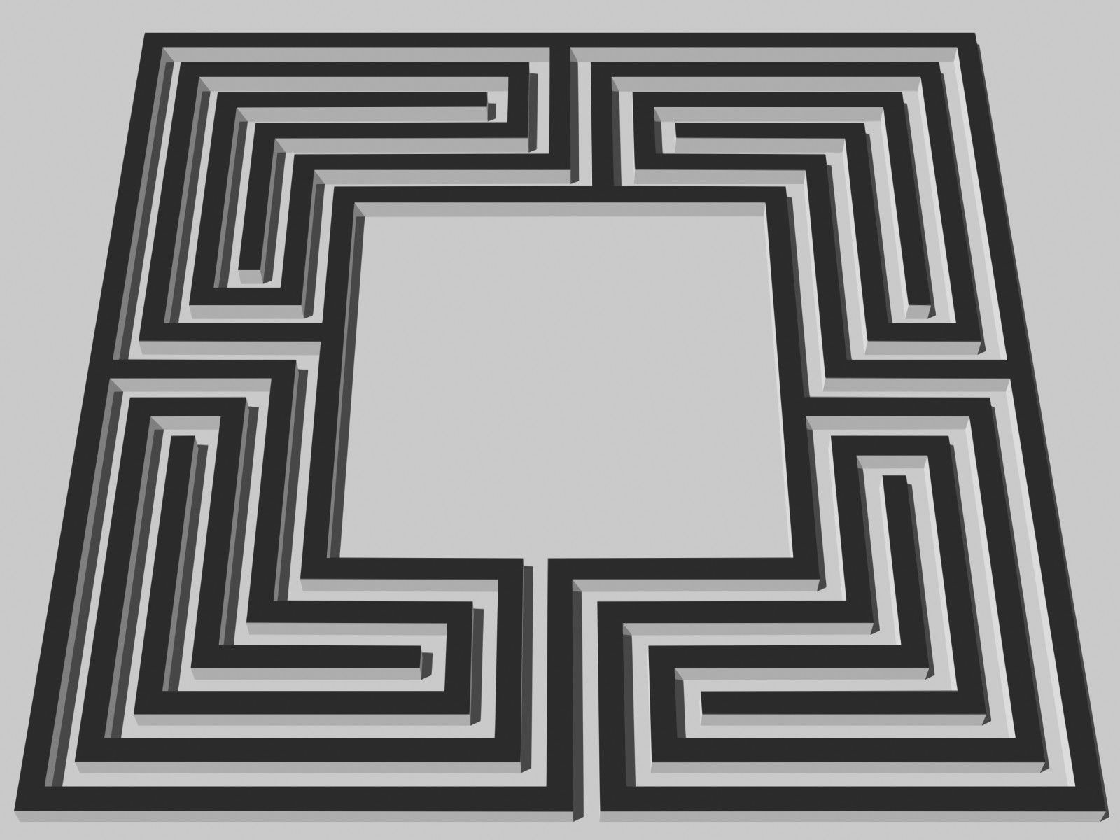 Labyrinth Designs Easy | Simple Square Labyrinth ... Simple Square Maze