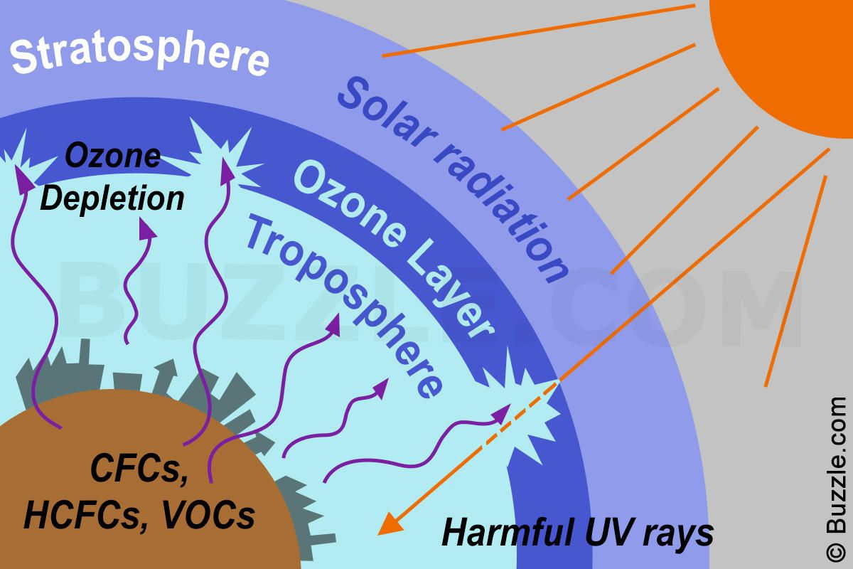 what are the causes of ozone depletion