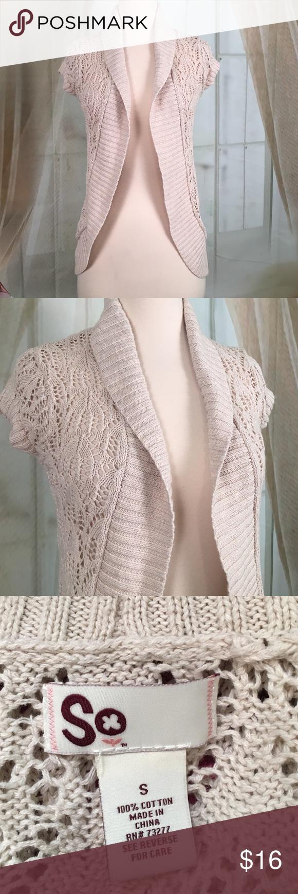 SO Cream Colored Shrug | D, Cream and Sweaters