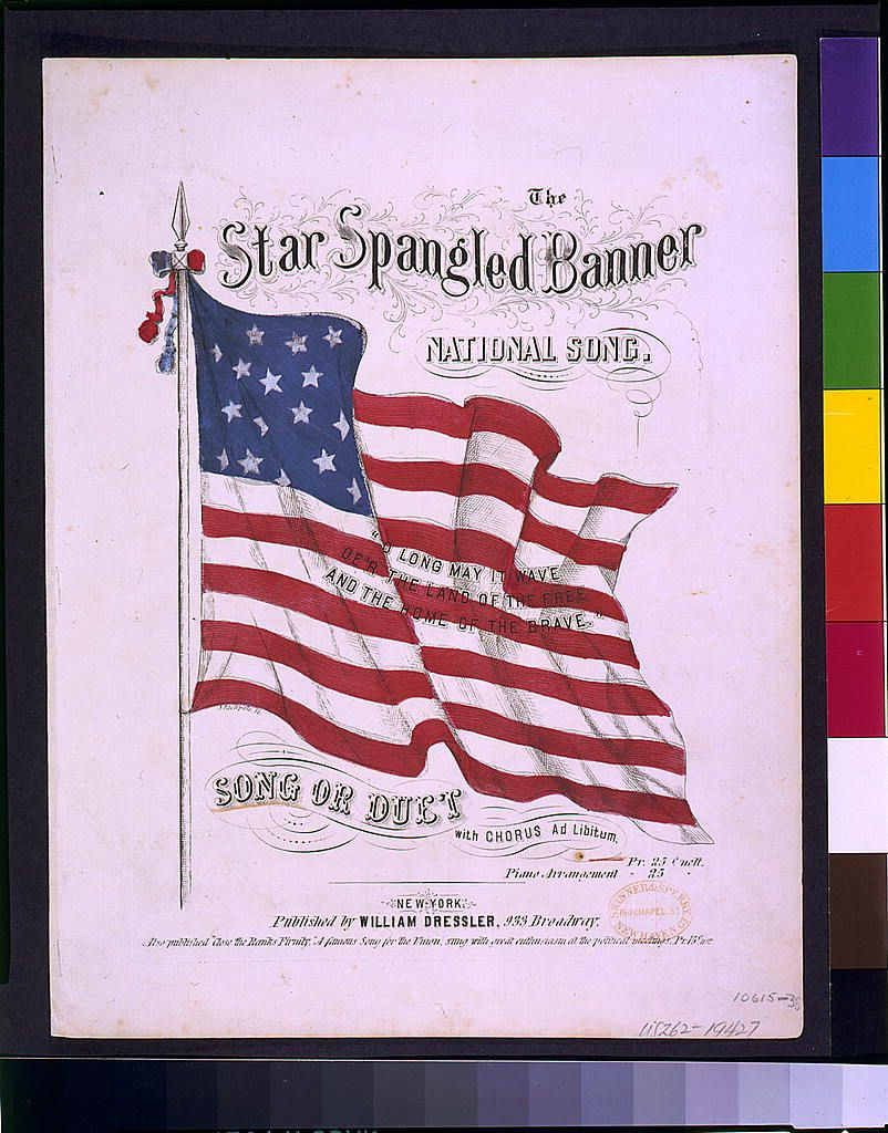 Pin By Teachinghistory Org On Antebellum U S Star Spangled Banner National Songs Elementary Music