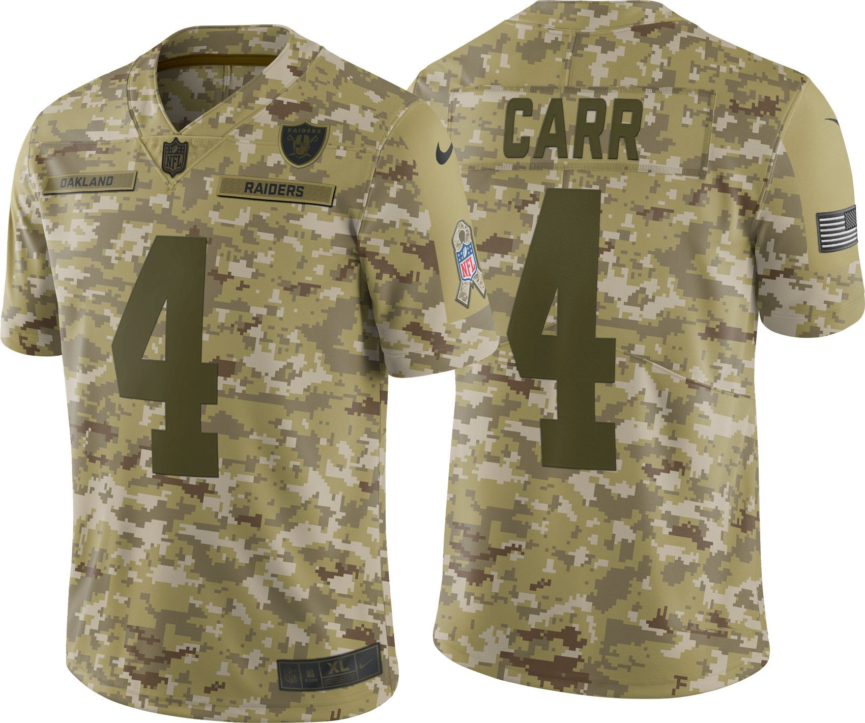 the latest 6e46d c40fc Nike Men's Salute to Service Oakland Raiders Derek Carr #4 ...