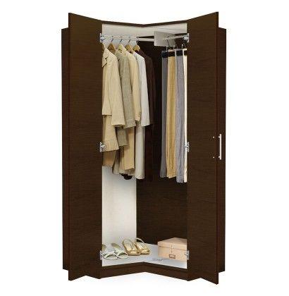 Alta Corner Wardrobe Closet - Free Standing Corner Closet | Corner ...