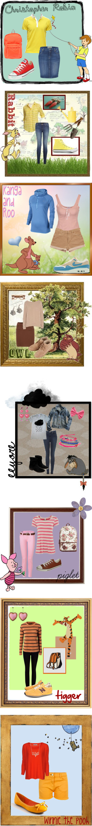 """Winnie the Pooh Inspired Outfits"" by adorerodio on Polyvore"