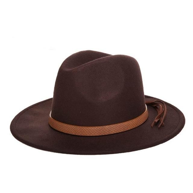 611f6c668beda Wool Felt Fedora Hat. Fedora Hat Classical Wide Brim ...